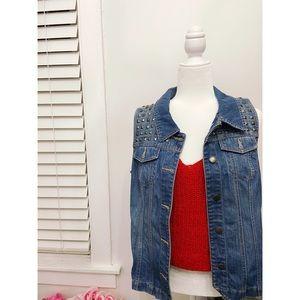 Sleeveless Button Up Jean Jacket